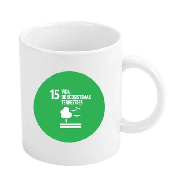 taza ods sdg desarrollo sostenible 15 vidas de ecosistemas terrestres