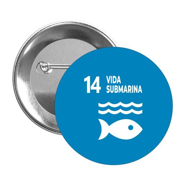 chapa ods desarrollo sostenible 14 vida submarina