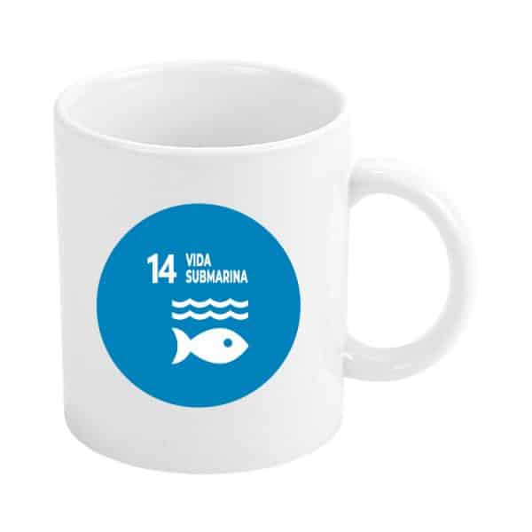 taza ods sdg desarrollo sostenible 14 vida submarina
