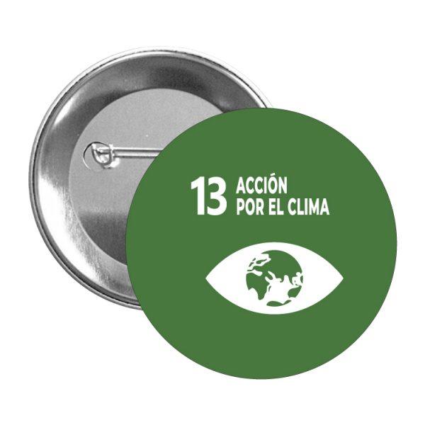 chapa ods sdg desarrollo sostenible 13 accion por el clima