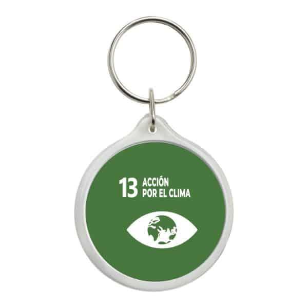 llavero redondo ods sdg desarrollo sostenible 13 accion por el clima