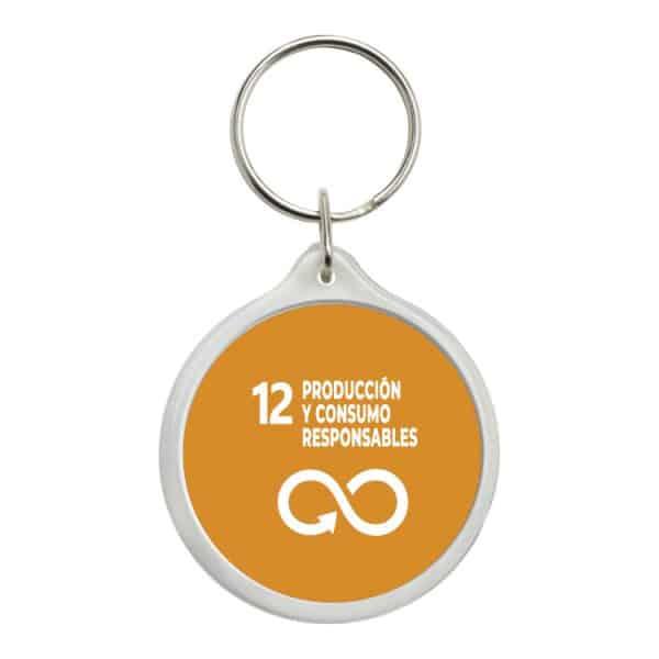 llavero redondo ods desarrollo sostenible 12 produccion y consumos responsables
