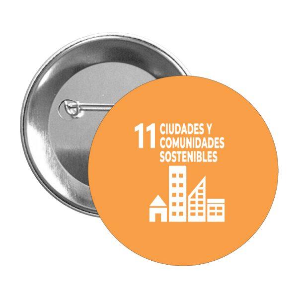 chapa ods sdg desarrollo sostenible 11 ciudades y cpmunidades sostenibles