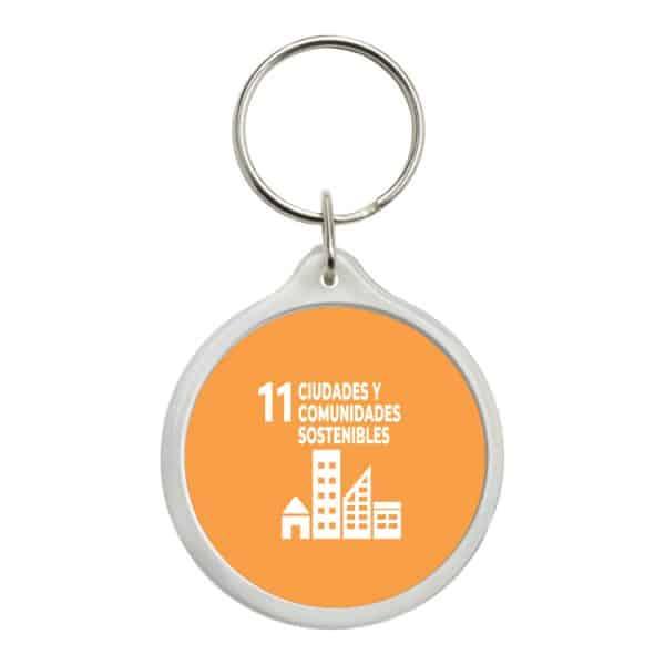 llavero redondo ods sdg desarrollo sostenible 11 ciudades y comunidades sostenibles