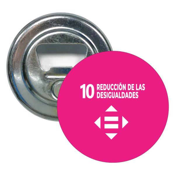 abridor redondo ods desarrollo sostenible 10 reduccion de las desigualdades