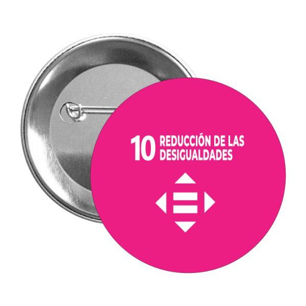 chapa ods sdg desarrollo sostenible 10 reduccion de las desigualdades
