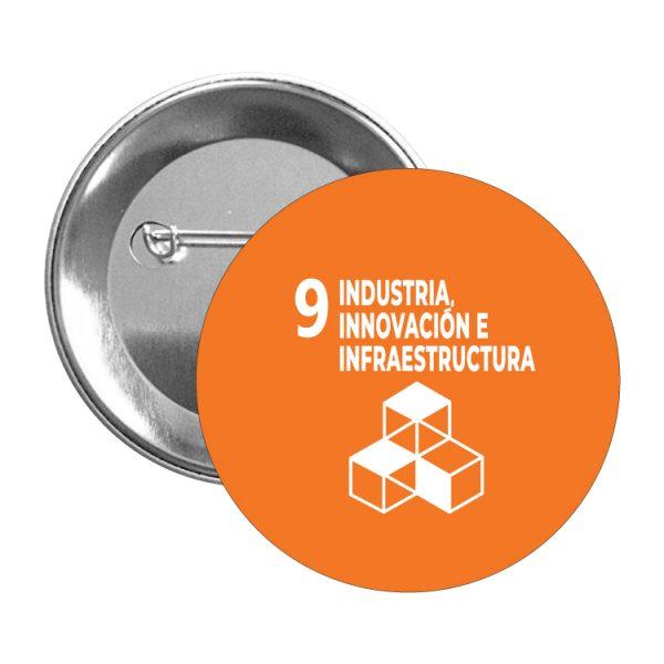 chapa ods sdg desarrollo sostenible 9 industria innovacion e infraestrutura