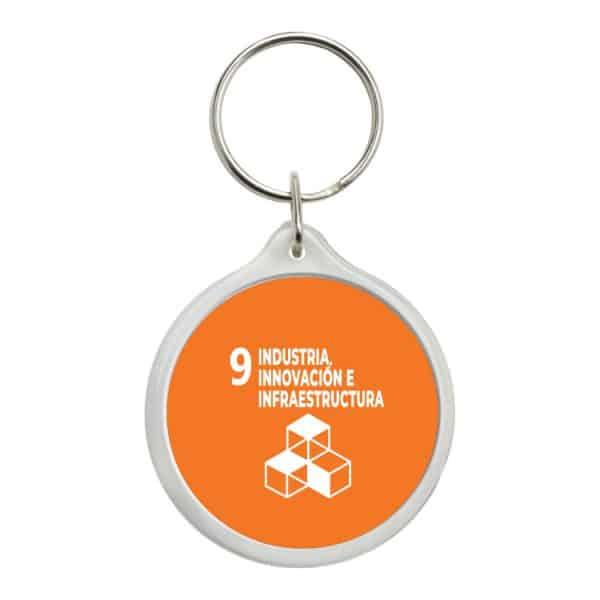 llavero redondo ods sdg desarrollo sostenible 9 industria innovacion e infraestrutura