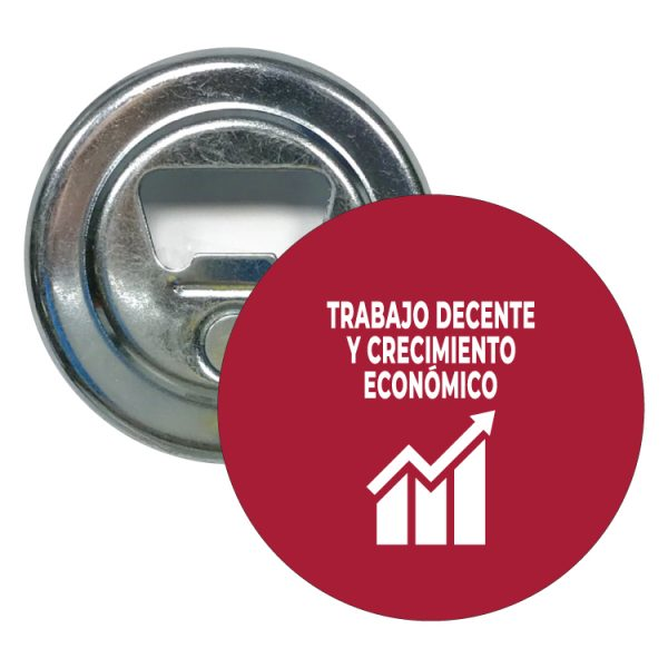 abridor redondo ods desarrollo sostenible trabajo decente y crecimiento economico