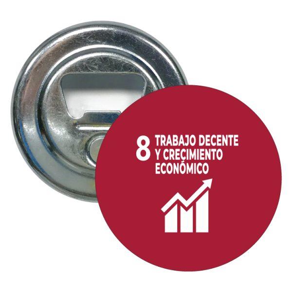 abridor redondo ods sdg desarrollo sostenible 8 trabajo decente y crecimiento economico