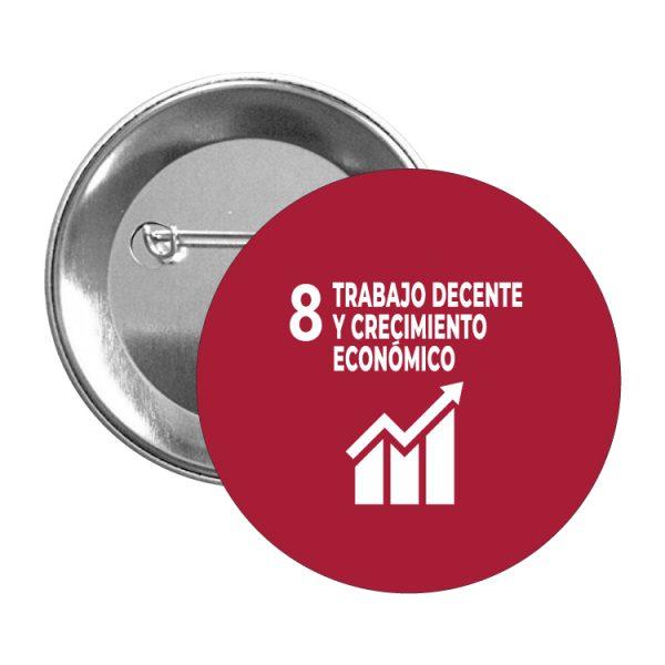 chapa ods sdg desarrollo sostenible 8 trabajo decente y crecimiento economico