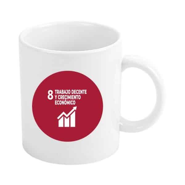 taza ods sdg desarrollo sostenible 8 trabajo decente y crecimiento economico
