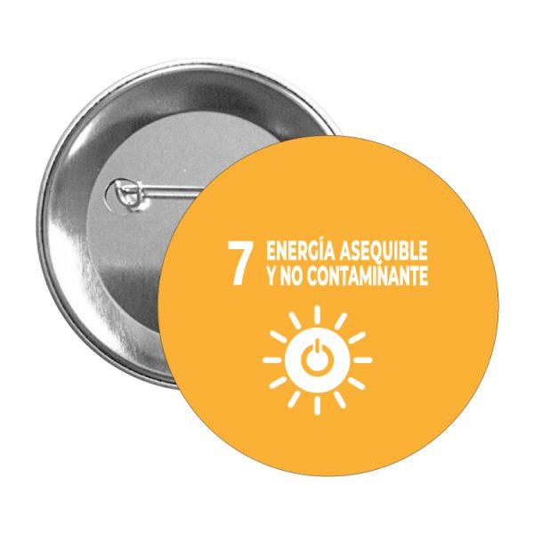 chapa ods sdg desarrollo sostenible 7 energia esequible y no contaminante