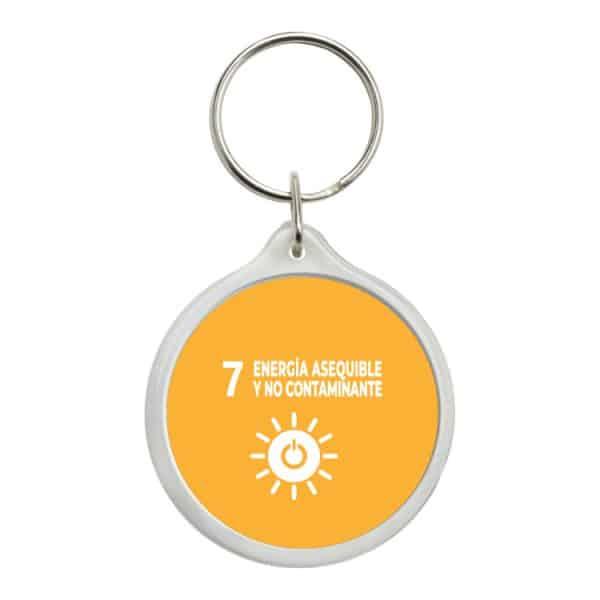 llavero redondo ods sdg desarrollo sostenible 7 energia esequible y no contaminante