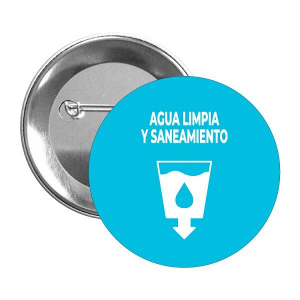 chapa ods sdg desarrollo sostenible agua limpia y saneamiento