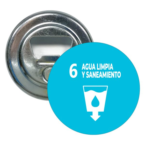 abridor redondo ods sdg desarrollo sostenible 6 agua limpia y saneamiento