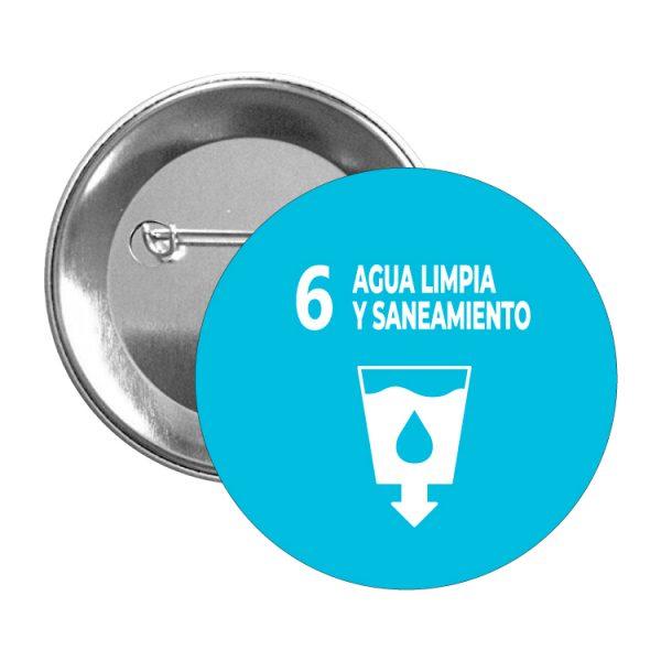 chapa ods sdg desarrollo sostenible 6 agua limpia y saneamiento