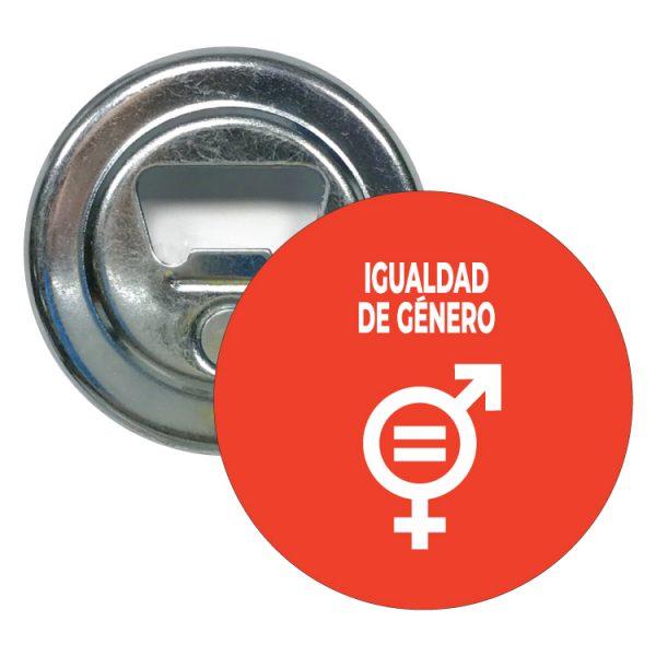 abridor redondo ods sdg desarrollo sostenible igualdad de genero