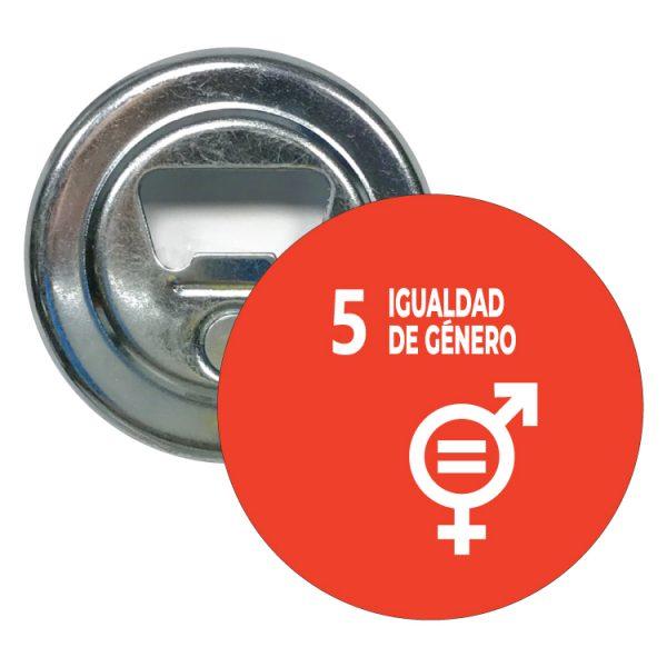 abridor redondo ods sdg desarrollo sostenible 5 igualdad de genero