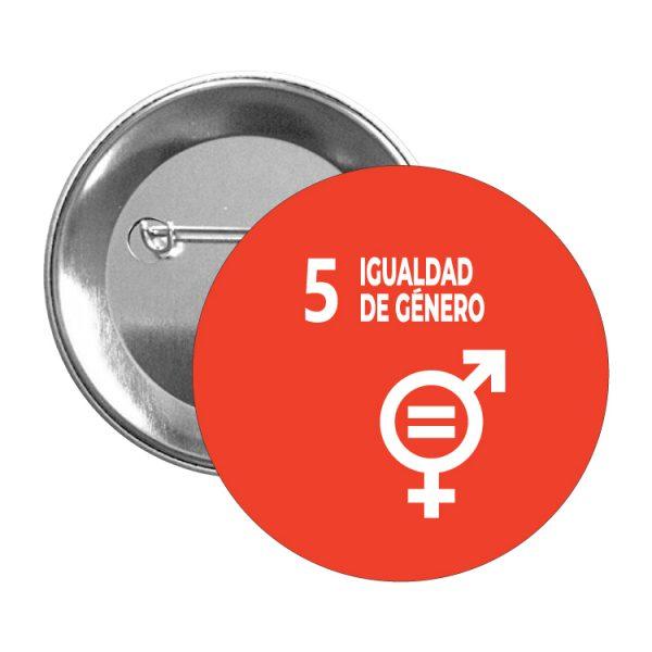chapa ods sdg desarrollo sostenible 5 igualdad de genero