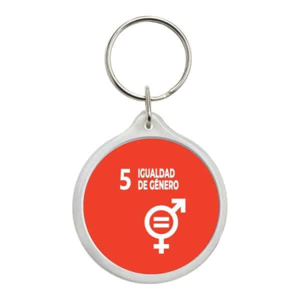 llavero redondo ods sdg desarrollo sostenible 5 igualdad de genero