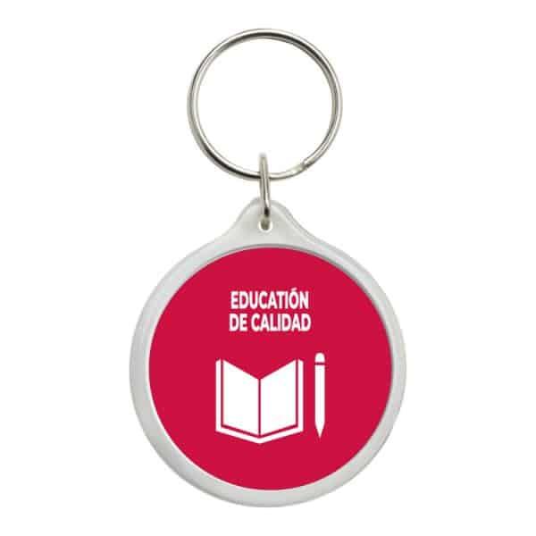llavero redondo ods sdg desarrollo sostenible education de calidad