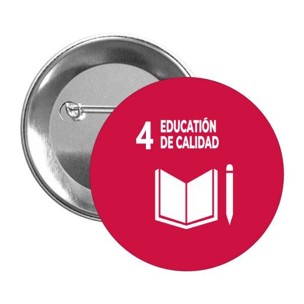 chapa ods desarrollo sostenible 4 education de calidad