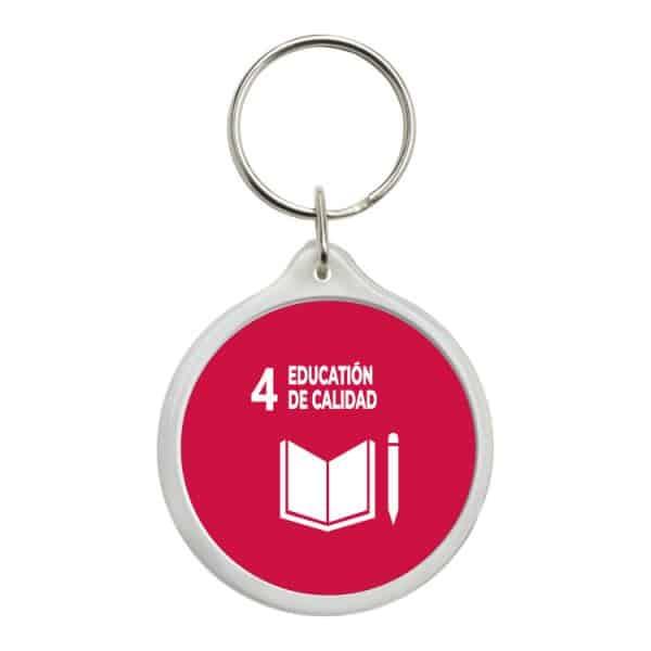 llavero redondo ods sdg desarrollo sostenible 4 education de calidad