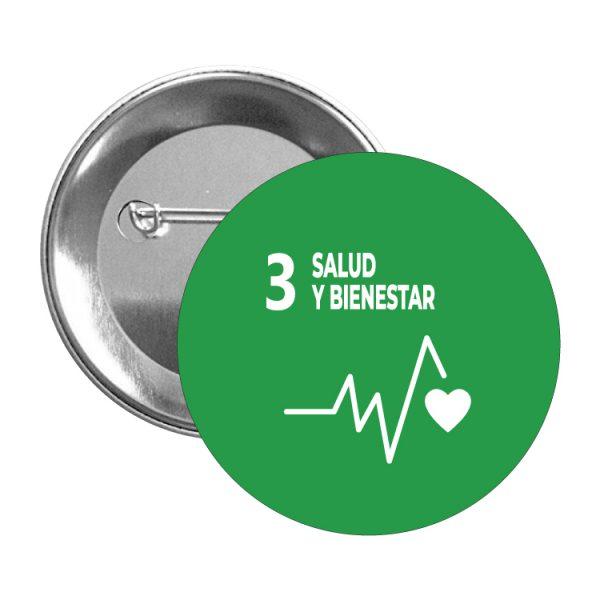 chapa ods sdg desarrollo sostenible 3 salud y bienestar
