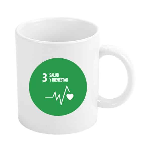 taza ods sdg desarrollo sostenible 3 salud y bienestar