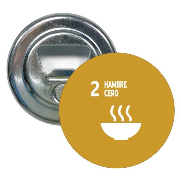 abridor redondo ods sdg desarrollo sostenible 2 hambre cero