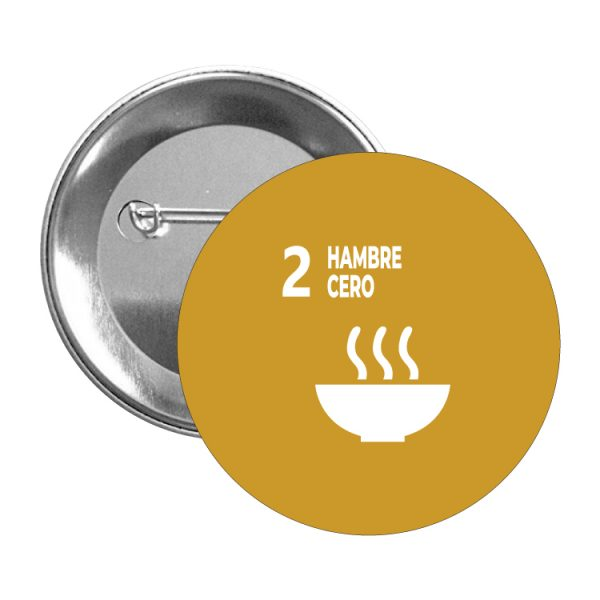 chapa ods sdg desarrollo sostenible 2 hambre cero