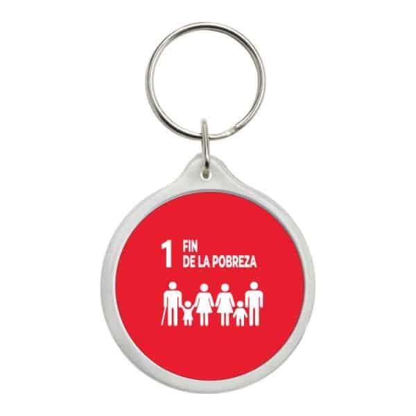 llavero redondo ods sdg desarrollo sostenible 1 fin de la pobreza