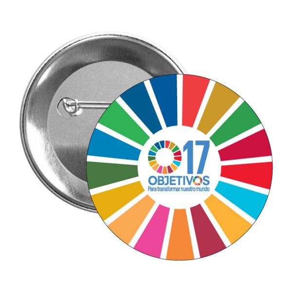 chapa ods sdg desarrollo sostenible 17 objetivos para transformar nuestro mundo
