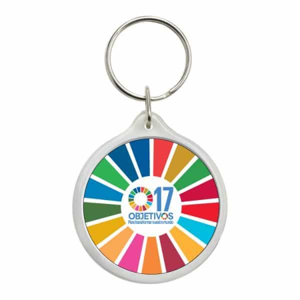 llavero redondo ods sdg desarrollo sostenible 17 objetivos para transformar nuestro mundo