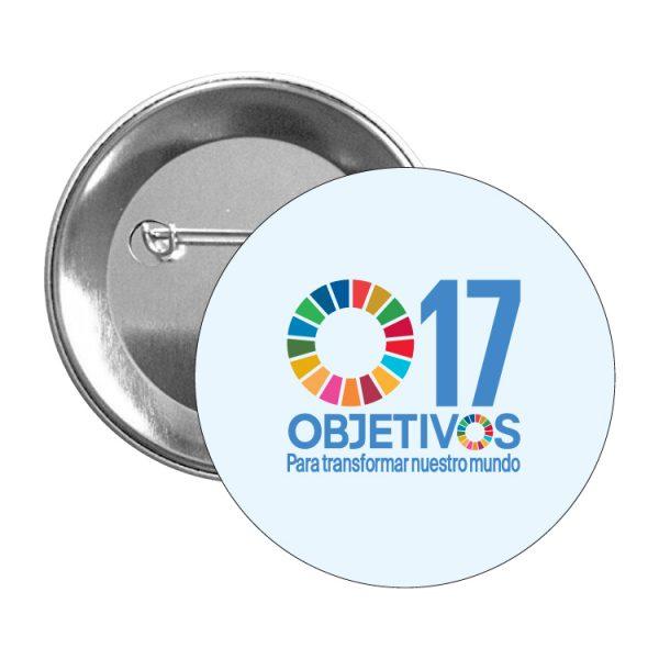 chapa ods sdg desarrollo sostenible 17 objetivos para transformar nuestro mundo #2