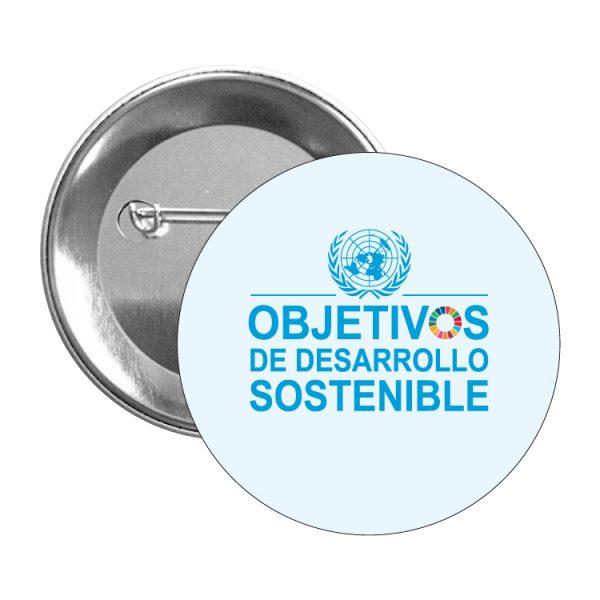 chapa ods sdg desarrollo sostenible