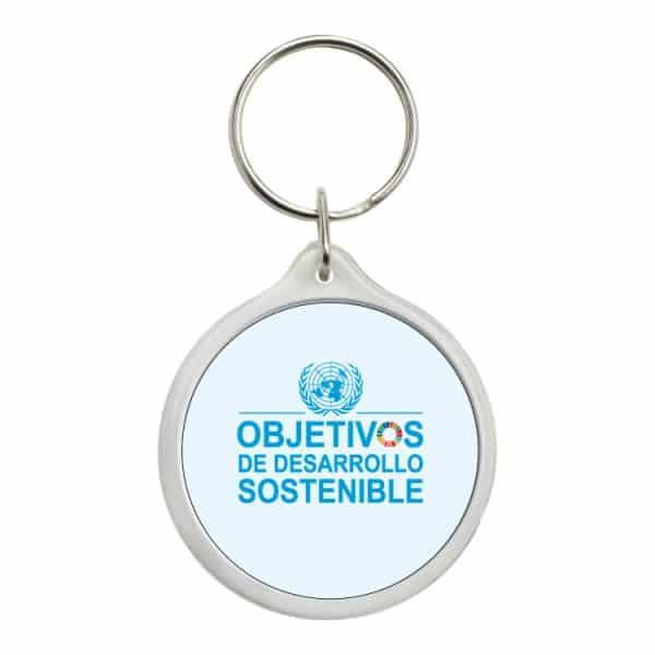 llavero redondo ods sdg desarrollo sostenible