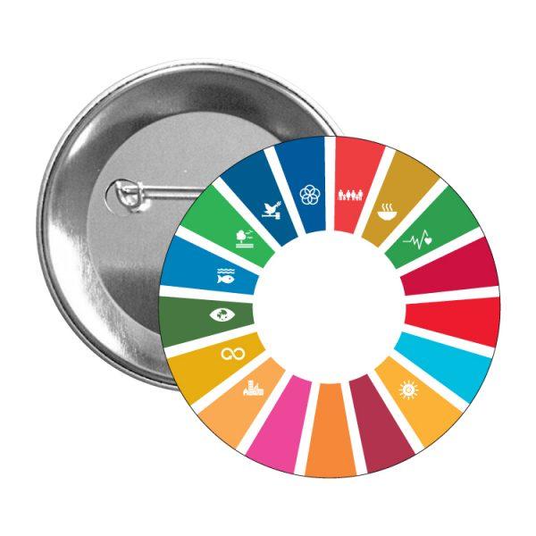 chapa ods sdg desarrollo sostenible 11 objetivos