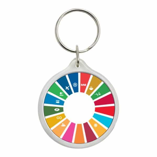 llavero redondo ods sdg desarrollo sostenible 11 objetivos