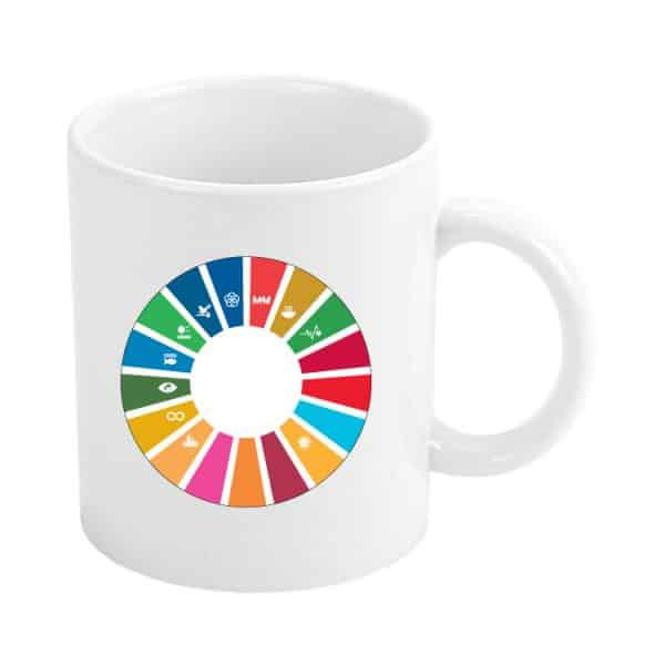 taza ods sdg desarrollo sostenible 11 objetivos