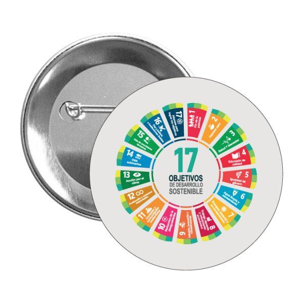 chapa ods sdg desarrollo sostenible 17 objetivos