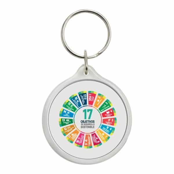 llavero redondo ods sdg desarrollo sostenible 17 objetivos