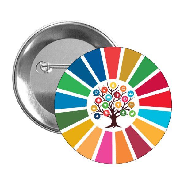 chapa ods sdg desarrollo sostenible arbol 17 medidas