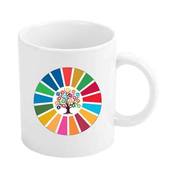 taza ods sdg desarrollo sostenible arbol 17 medidas