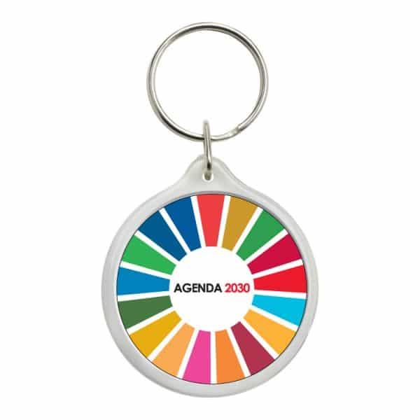 llavero redondo ods sdg desarrollo sostenible agenda 2030