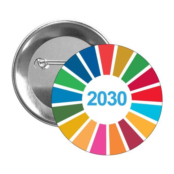 chapa ods sdg desarrollo sostenible 2030