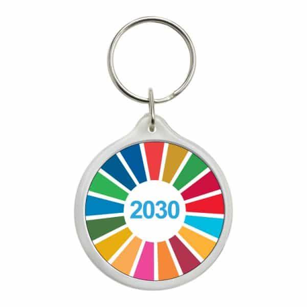 llavero redondo ods sdg desarrollo sostenible 2030