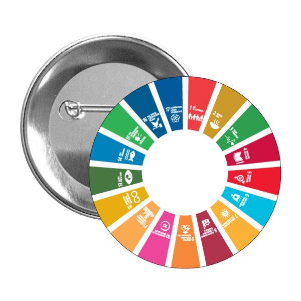 chapa ods sdg desarrollo sostenible 17 medidas agenda 2030