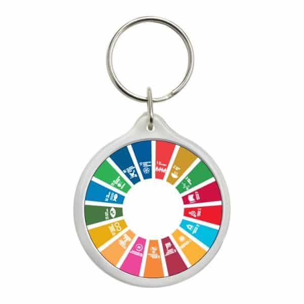 llavero redondo ods sdg desarrollo sostenible 17 medidas agenda 2030